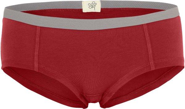 Faire Unterwäsche für Frauen: Boyshorts rot von Albero