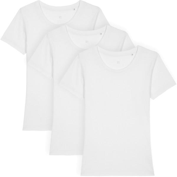 T-Shirt aus Bio-Baumwolle - white - 3er-Pack