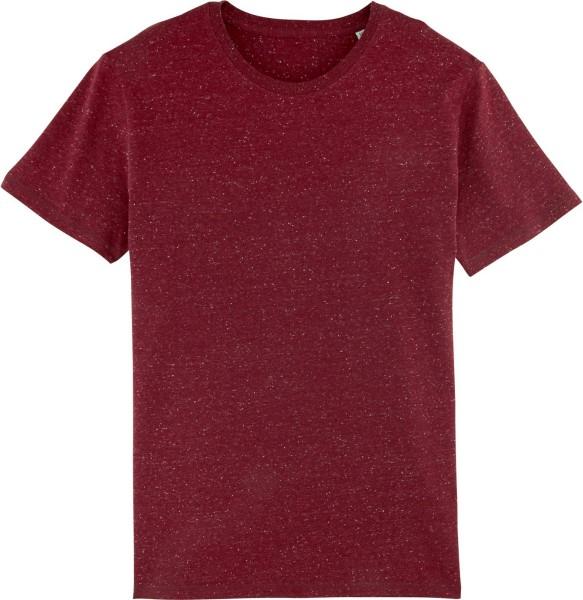 T-Shirt aus schwerem Stoff aus Bio-Baumwolle - heather burgundy
