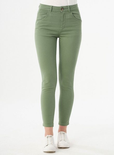 Slim Fit Hose aus Bio-Baumwolle - fern green