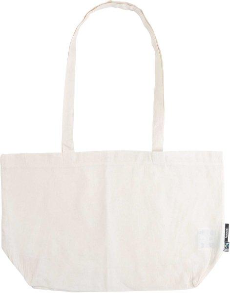 Organic Shopping Bag - breit mit langem Hänkel - Fairtrade natur - Bild 1