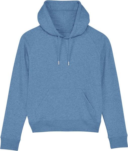 Raglan-Hoodie aus Bio-Baumwolle - mid heather blue