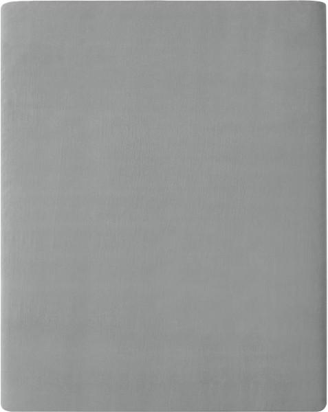 Flanell-Spannbetttuch aus Bio-Baumwolle 160x200cm - grey