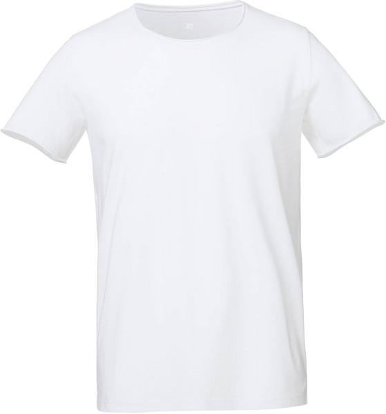 Ökofaires T-Shirt für Herren, mit Raw-Edge Kragen, Vintage Stil