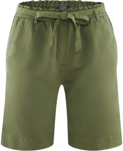Bermuda-Shorts aus Bio-Leinen und Bio-Baumwolle - fern