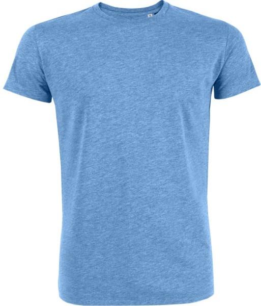 Leads - T-Shirt aus Bio-Baumwolle - blau-meliert - Bild 1