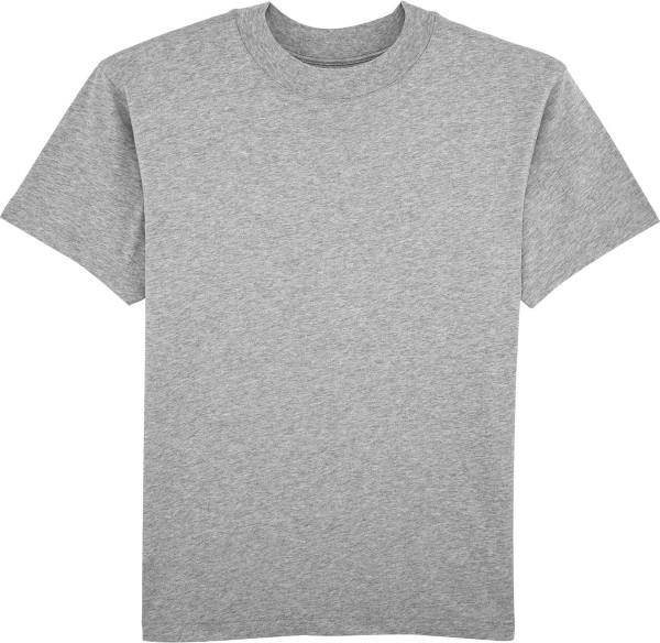 T-Shirt mit hohem Halsabschluss - heather grey