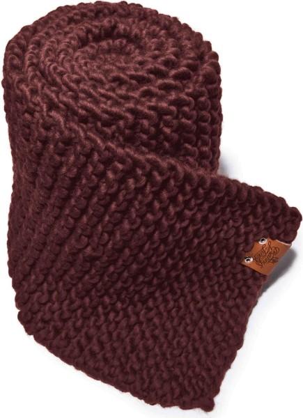 Strickschal aus Schurwolle - merlot