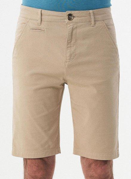 Slim Fit Shorts aus Bio-Baumwolle - beige
