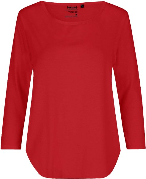 3/4 Sleeve T-Shirt aus Fairtrade Bio-Baumwolle - red