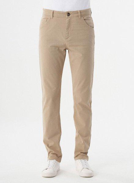 Regular Fit 5-Pocket-Hose aus Bio-Baumwolle - beige