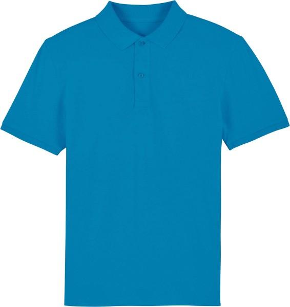 Piqué-Poloshirt aus Bio-Baumwolle - azur