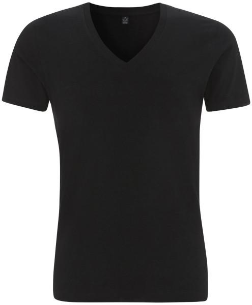 Bio V-Neck T-Shirt Herren schwarz EP03V BL