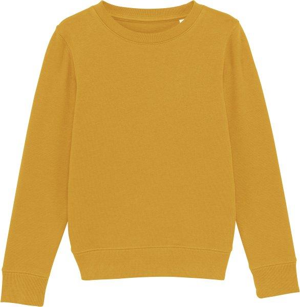 Kinder Sweatshirt aus Bio-Baumwolle - ochre