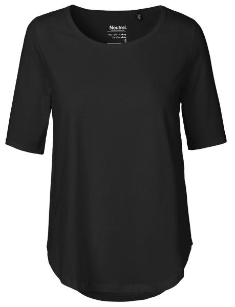 T-Shirt halblange Ärmel schwarz 81004