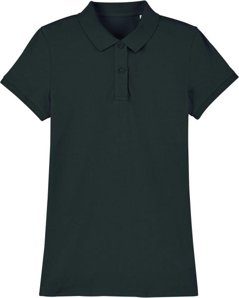 Piqué-Poloshirt aus Bio-Baumwolle - black