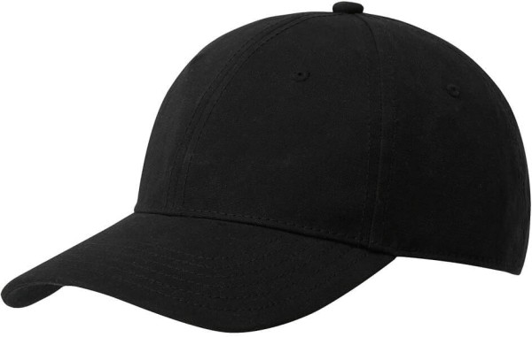 Baseballkappe aus Biobaumwolle - black