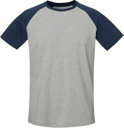 7b60ddffd223 Baseball Short Sleeve - T-Shirt aus Bio-Baumwolle - h. grey