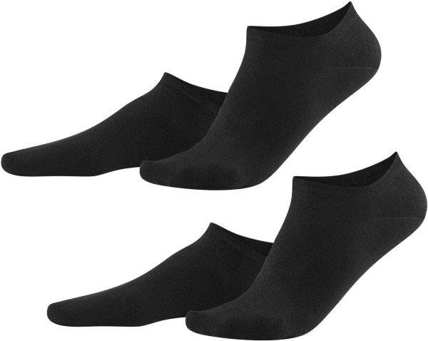 Damen Sneaker-Socken aus Bio-Baumwolle - 2er-Pack - black