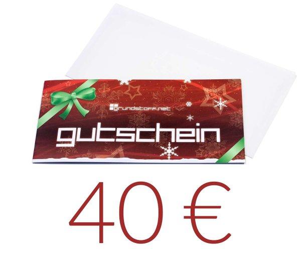 40,- EUR Geschenkgutschein - Weihnachtsdesign - Bild 1