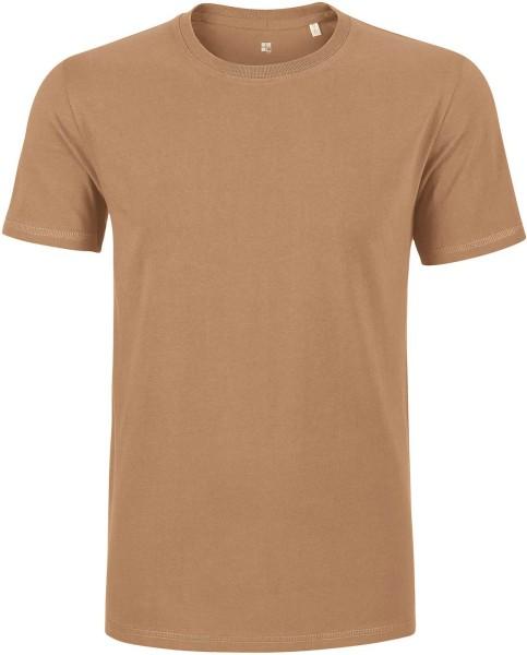 T-Shirt schwerer Stoff Bio-Baumwolle - camel