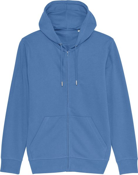 Unisex Kapuzenjacke aus Bio-Baumwolle - bright blue