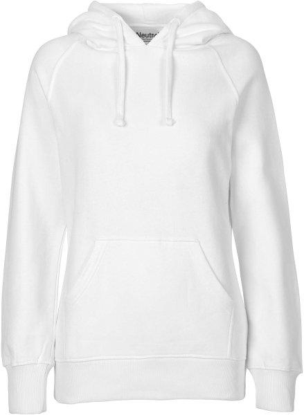 Hooded Sweatshirt aus Fairtrade Bio-Baumwolle - weiss