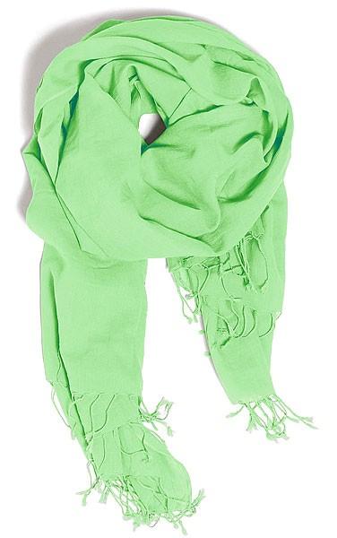 Wrap - Schal aus Bio-Baumwolle - paradise green - Bild 1