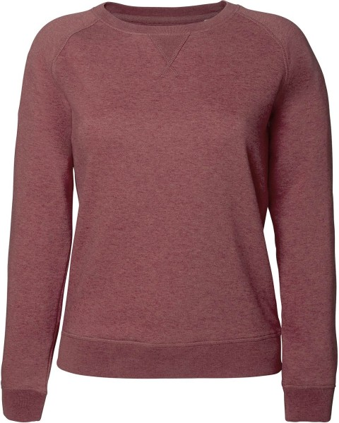 Sweatshirt Bio-Baumwolle - black heather cranberry