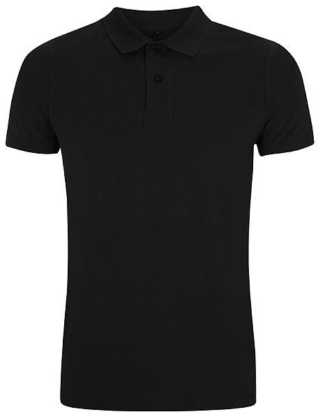Urban Brushed Jersey Polo Shirt - schwarz - Bild 1