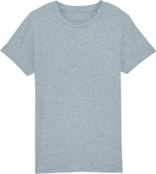 Kinder T-Shirt aus Bio-Baumwolle - heather ice blue