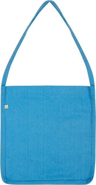 Recycled Sling Bag aus Baumwolle & Polyester - melange blue - Bild 1