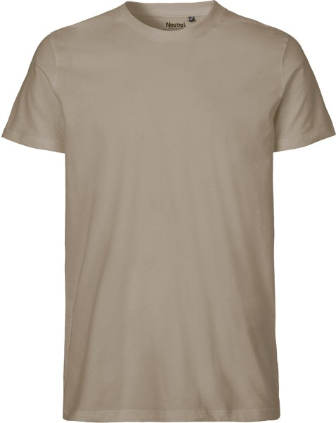 Fitted T-Shirt aus Fairtrade Bio-Baumwolle - sand