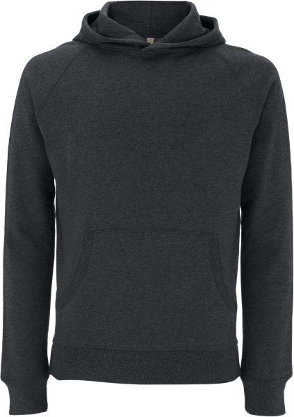 Recycled Unisex Hoodie aus Baumwolle und Polyester - melange black