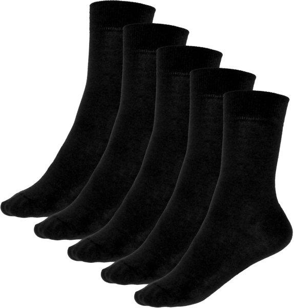 5er-Pack Premium-Socken aus Bio-Baumwolle - schwarz