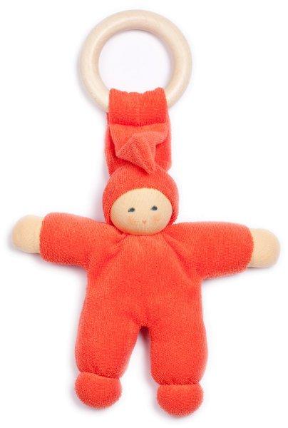 Pimpel mit Ahornring - Püppchen aus Bio-Baumwolle - rot - Bild 1