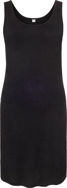 Organic Curved Tank Dress - black