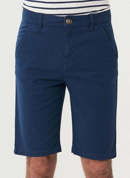 Slim Fit Shorts aus Bio-Baumwolle - navy