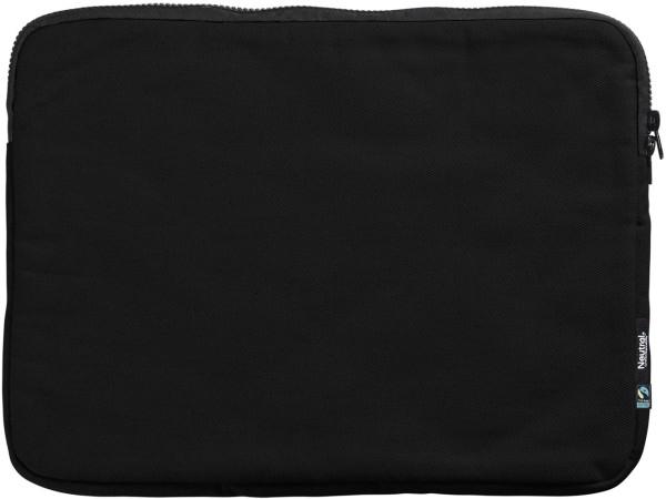 Laptoptasche 15 Zoll schwarz Fairtrade Bio-Baumwolle