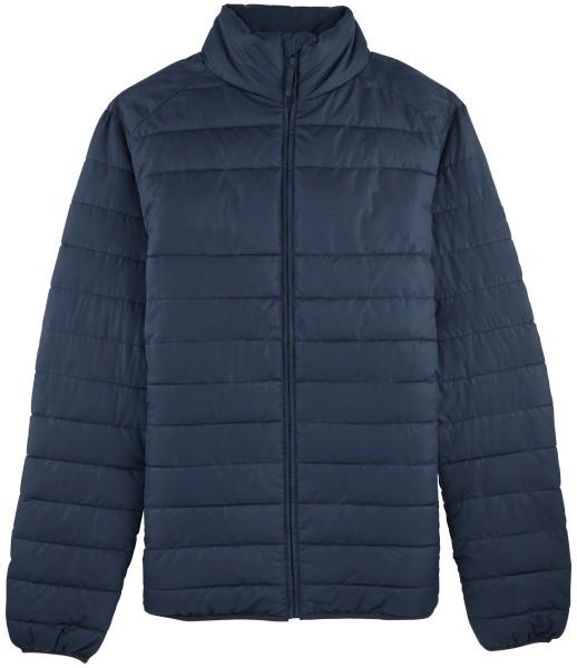 Wattierte Jacke recyceltes Polyester navy