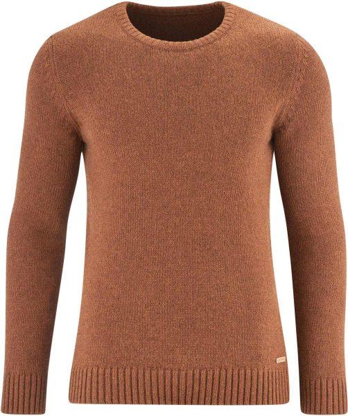 Strickpullover aus Bio-Baumwolle und Bio-Wolle - rust