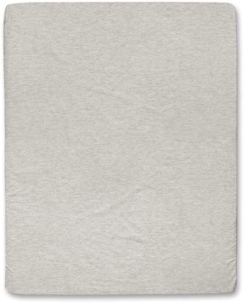 Spannbettuch aus Bio-Baumwolle - beige-meliert - 160 x 200 cm