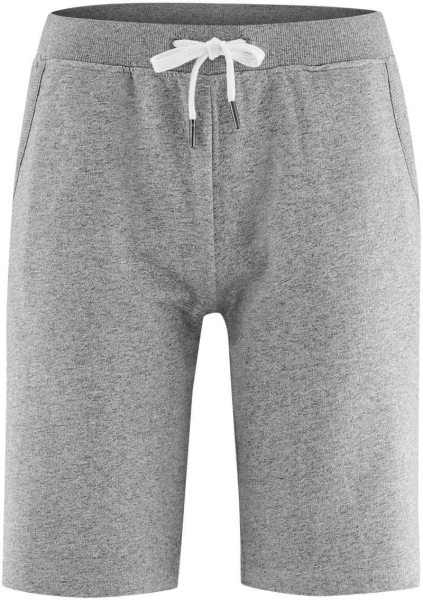 Sweat-Shorts aus Bio-Baumwolle - stone grey