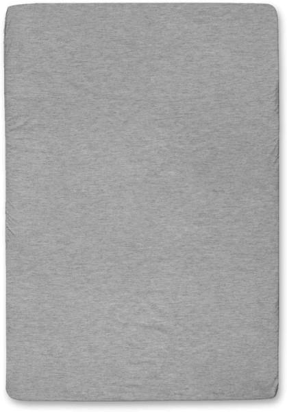 Spannbettuch aus Bio-Baumwolle - grau-meliert - 140 x 200 cm