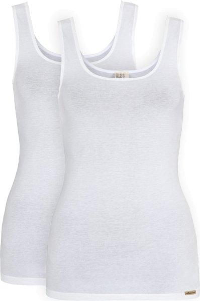 Unterhemd aus Fairtrade Biobaumwolle - 2er-Pack - weiss