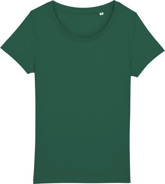 Basic T-Shirt aus Bio-Baumwolle - bottle green