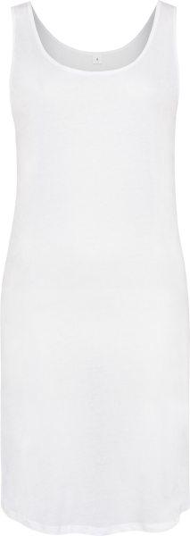 Organic Curved Tank Dress - white