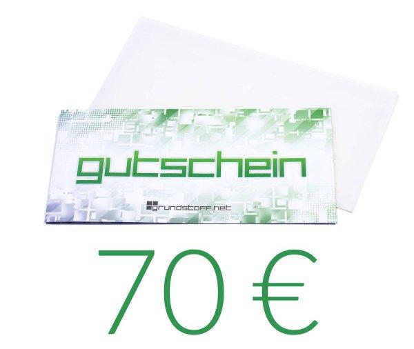 70,- EUR Geschenkgutschein - neutrales Design
