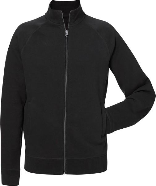 Trails - Sweatjacke aus Bio-Baumwolle - schwarz