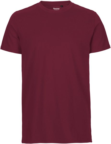 Fitted T-Shirt aus Fairtrade Bio-Baumwolle - bordeaux